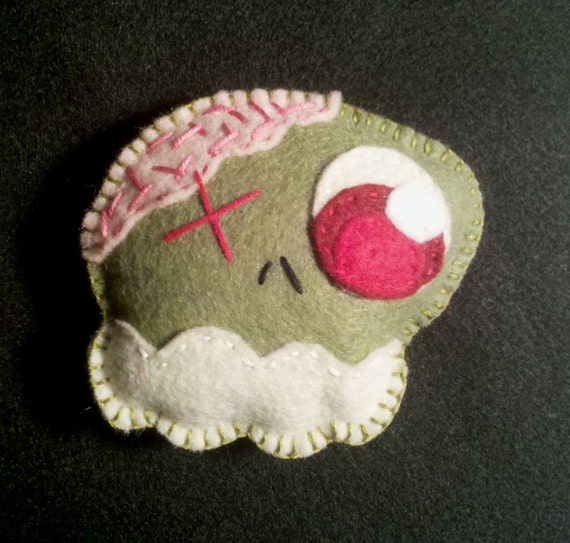 Zombie Skull Cat toy, organic and eco friendly