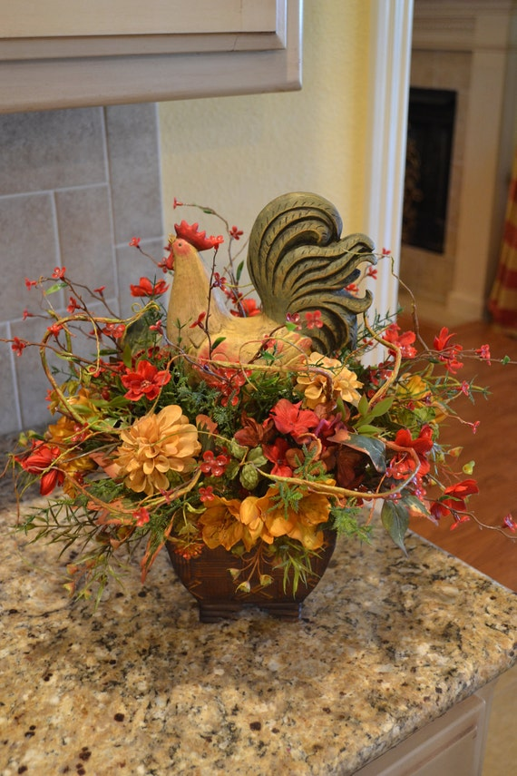 Colorful Rooster Arrangement