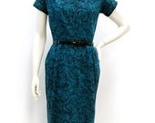 SALE Vintage 1950s Cocktail Wiggle Dress