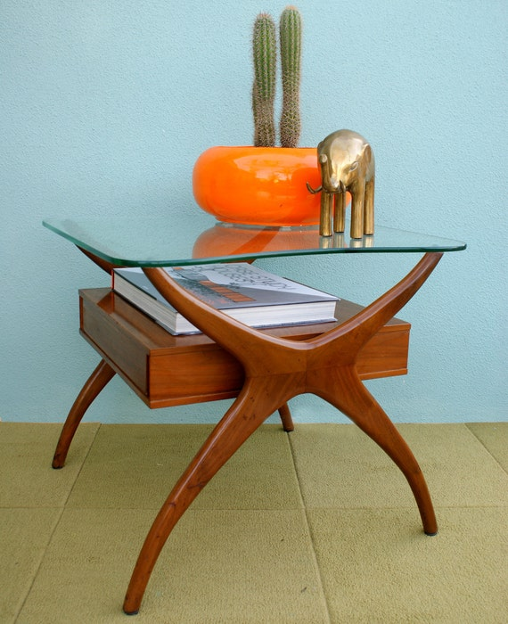 Reserved for Julie Vintage Kagan or Pearsall style Mid Century Modern Side Table
