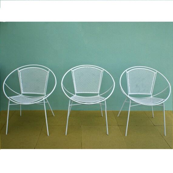 Items Similar To Salterini Hoop Mid Century Patio Chairs Set Of 2 On Etsy