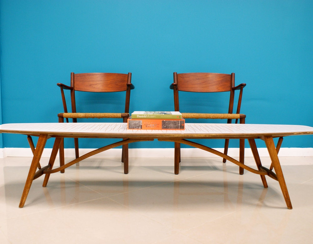 Surfboard Cocktail Table Mid Century Modern By Drexel