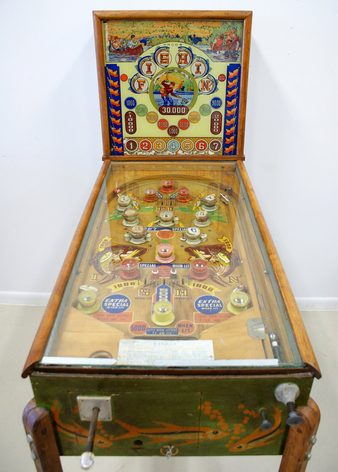Vintage Pinball Machine From The 1930 S 40 S Great