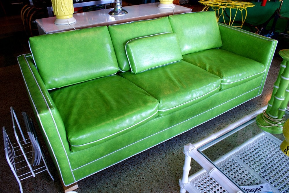 Reserved For Jamiegbryant Mid Century Modern Green Sofa