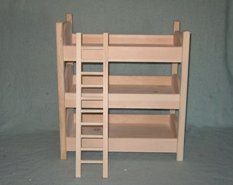 triple doll bunk bed. Black Bedroom Furniture Sets. Home Design Ideas