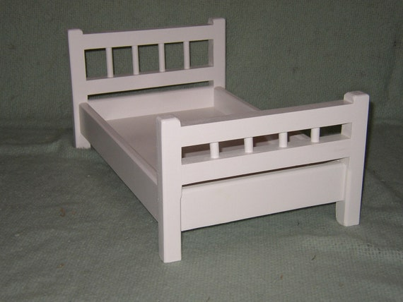 18 inch doll bed - Mission Hill Design - Prefinished White
