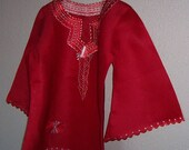 ATTITUDE Red Linen Top for Women L free shipping weekend
