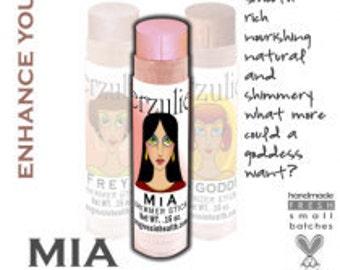 Organic Mineral Makeup Cream Shimmer Stick in MIA  Acne Safe and Non-Comedogenic  Non-Toxic Acne Safe Cosmetics