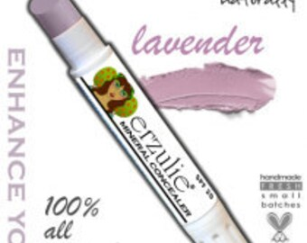 Natural Cosmetics  Erzulie Mineral Corrector Stick In Lavender  Gluten Free Makeup Cruelty Free Cosnetics  Acne Safe Makeup