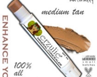 Mineral Concealer Stick  Acne Safe Makeup  All Natural Concealer with Argan Oil     Great Coverage MEDIUM  TAN