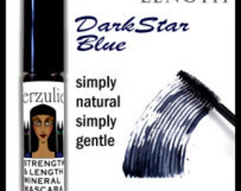 On Sale All Natural and Organic  Mineral Mascara  in Darkstar Blue  Unscented