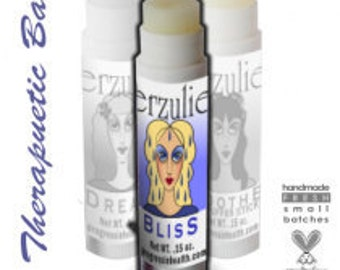 Natural BLISS TEMPLE BALM (tm)     Aromatherapy Balm for stress relief /  with argan oil  non toxic skin care