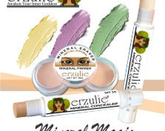 Natural Mineral Corrector and Concealer Sticks Three Colors  Extra Coverage Makeup  Acne Safe Makeup  Non-comedogenic Makeup