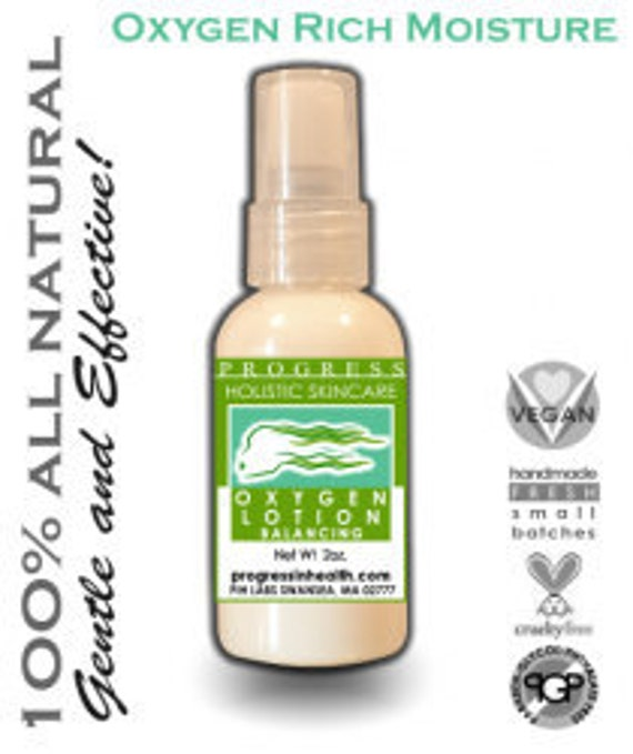 Natural Skin Care Oxygen Facial Moisturizer with hyaluronic acid and radish root extract  vegan all skin types