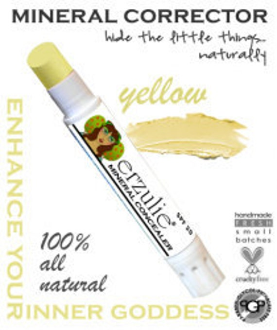Natural Mineral Corrector Stick in Yellow   Non-comedogenic  Acne Safe Makeup Gluten Free Makeup