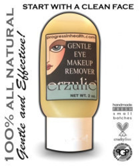 All Natural Eye Makeup Remover Gel  Gently Removes Waterproof Makeup with ease   Unscented Organic Gluten Free