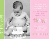 Coordinating Thank You Card to Birthday Girl Fun - Printable Party Invitations - Personalized PDF JPEG Digital File
