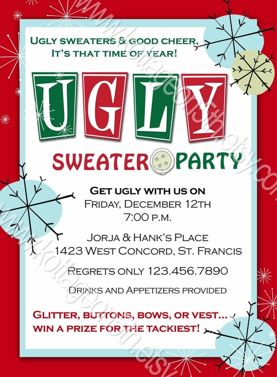 Ugly Christmas Sweater Invites was best invitation layout