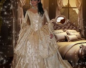 Ultimate Fantasy Marie Antoinette Off Shoulder Lace Back Gown Custom Your Color Choice