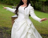 Victorian Reproduction Steampunk Corset Wedding Set with Jacket Custom