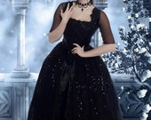 Fantasy Gothic Marie Antoinette Gown with Overskirts Custom