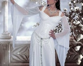 Artesia Medieval Wedding Gown Fantasy Corset Lace and Mesh Gown Custom