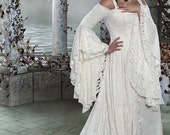 Gwendolyn Medieval Velvet and Lace Wedding Gown Custom