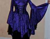 Fairy Gothic Medieval Shorter Gyspy Skirt Dress Custom