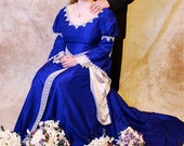 Gothic Guinevere or Accolade Custom Silk Medieval Wedding Gown