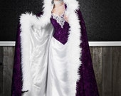 Ashley Gothic Medieval Gown and Fur Trimmed Cape Custom Color and Size