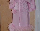 Moulin Rouge Style Corset Feather Dress and Caplet Custom Item New Style