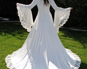 Victoria Velvet and Lace Medieval Fantasy Wedding Gown Custom Xs-Xl