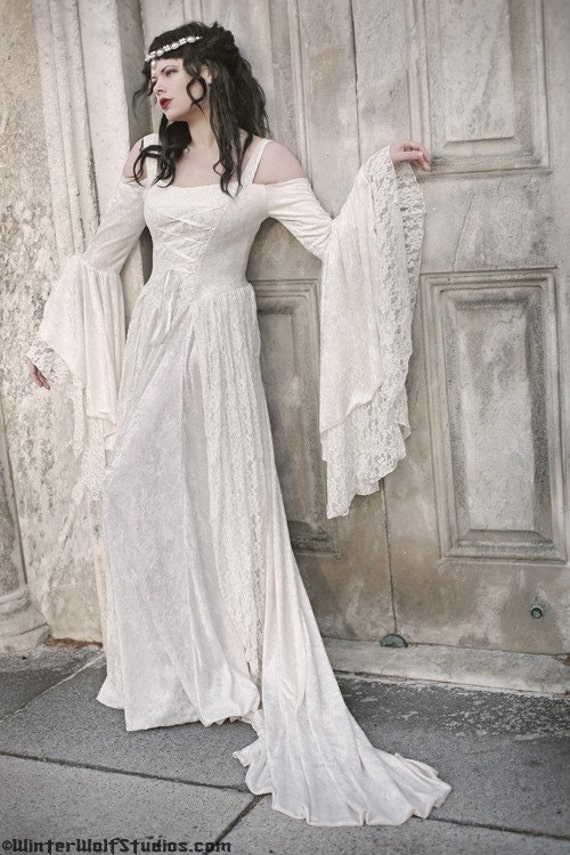 Items similar to gwendolyn medieval or renaissance wedding for Renaissance inspired wedding dress