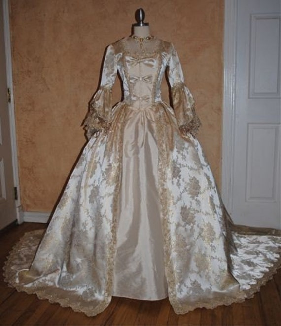 Items Similar To Fantasy Marie Antoinette Gown With Train