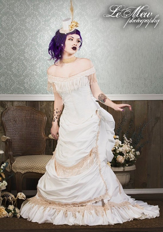 Items similar to victorian reproduction wedding set skirt for Wedding dress steaming