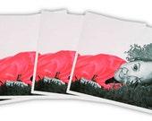 Pink Girl 1  (4pk Notecards)