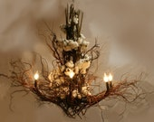 Custom Design Branch and twig Chandelier reserved for Connie