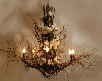 Custom Design Branch and twig Chandelier