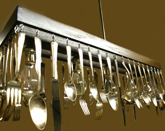 Custom Made to order Silverware Chandelier