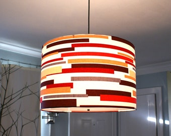 Custom drum pendant light made to order