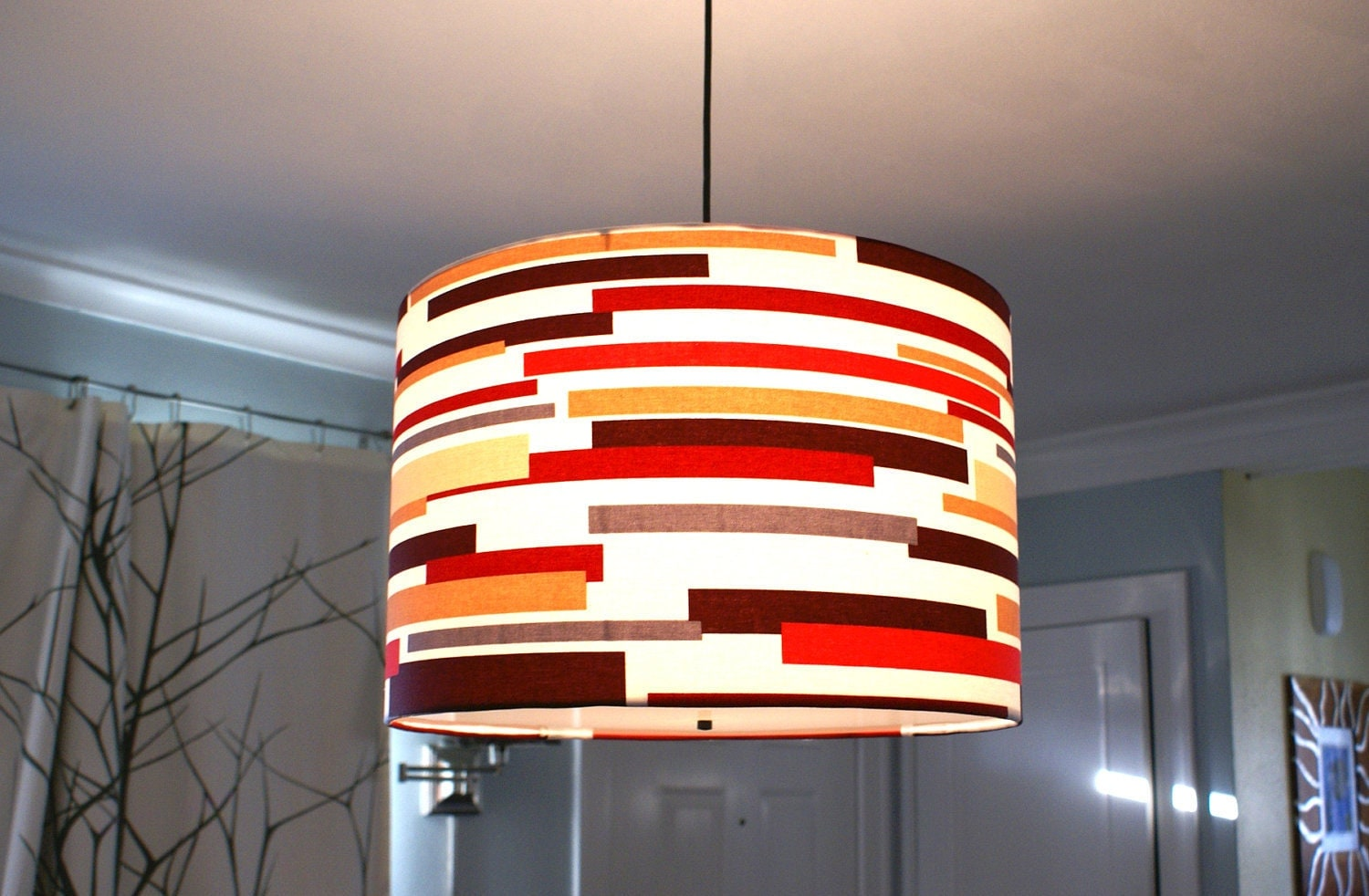 Custom drum pendant lights made to order