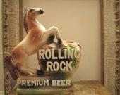 Vintage Rolling Rock Beer Chalkware  Horse