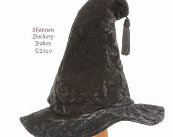 Witch Hat Large Black Velvet Isadora with Tassel ~ by Shannon Dockery Bakos ~ Retrovival Clothing Company