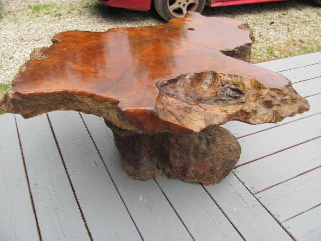 1950 39 S Tree Trunk Coffee Table By Kilconn On Etsy