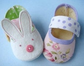 Bunny and Plain Baby Shoes - Booties Sewing Pattern Sewing Pattern - PDF ePattern