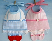 Baby Bib Sewing Pattern - Ballerina and Dorothy - PDF ePattern