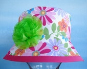 Hat Sewing Pattern - Reversible Floppy Hat for Girls - 3 sizes - ages 2 to 8 years - PDF e-Pattern