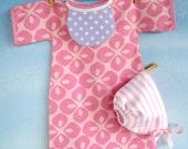 SALE - PDF e-Pattern - Baby Doll Nightgown - Dress, Bonnet and Bib - 15 Inch to 16 Inch Dolls