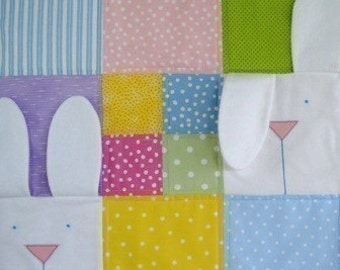 SALE - PDF e-Pattern - Peek-A-Boo Bunny Quilt