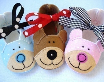 Bear Baby Booties - Shoes Sewing Pattern - PDF ePattern